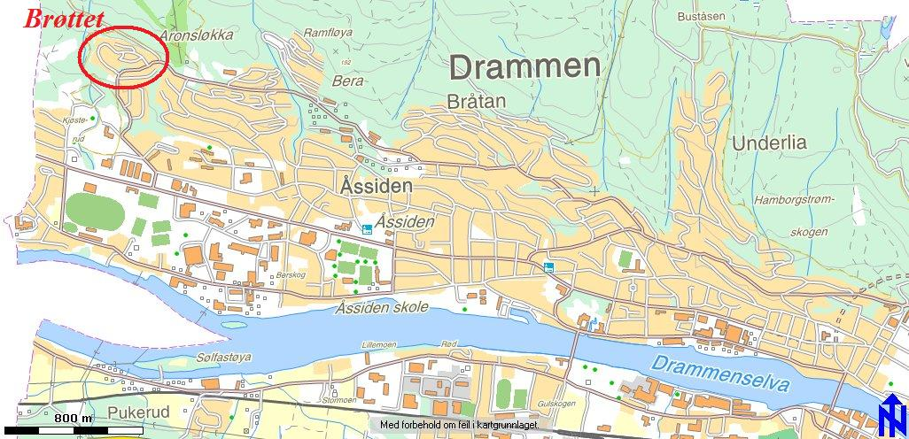 drammen kart Kart over Brøttet, Åssiden og Drammen (trykk på overskriften for  drammen kart
